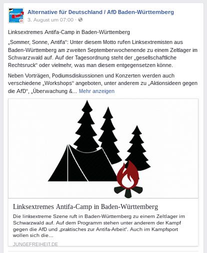 AfD und Verfassungsschutz stänkern gegen Antifa-Camp